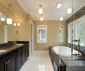 Bathroom Remodel with Double Sinks and Glass Shower