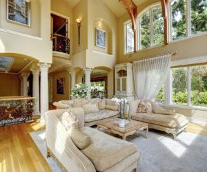 Luxury house interior. Living room